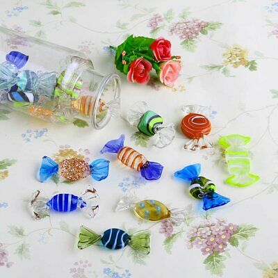 18PCs Vintage Murano Glass Sweets Wedding Xmas Party Candy Decorations Gift