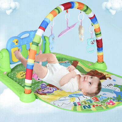 3 in 1 Baby Gym Floor Play Mat Blanket Pedal Piano Musical Kick Play Toy Fitness
