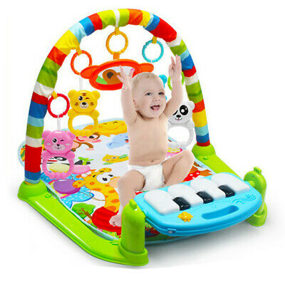 Baby Gym Floor Play Mat Activity Center Kick and Play | Sit and Play with Piano