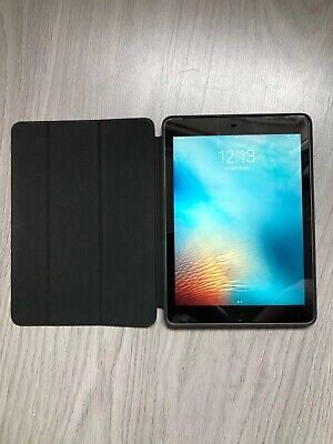 Apple iPad Air 2 16GB Carrier and WiFi / Genuine Apple Leather Case / Charger