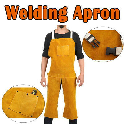 Leather Welder Welding Protective Gear Apron Work Safety Workwear Split type New