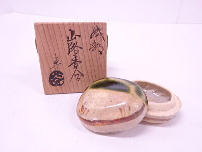 4299700: Japanese Tea Ceremony Oribe Incense Container / Kogo Artisan Work