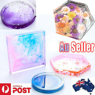 Coaster Resin Casting Mold Silicone Jewelry Agate Making Epoxy Mould Tool Craft