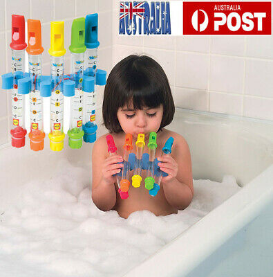 Children Kids Print Flute Water Toy Fun Whistles Music Bath Bathing Shower Toys