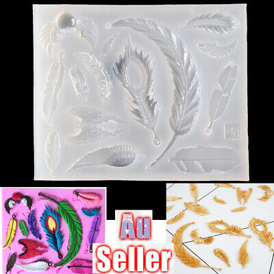 Silicone Feather Wing Pendant Mold Necklace Jewelry Resin Mould Casting Craft