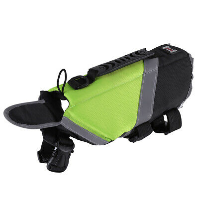 Pet Dog Safety Vest Reflective Swimming Preserver Clothes Saver Costume Green L