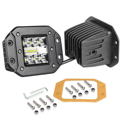 5inch Cree LED Work Light Bar Flush Mount Spot Flood Driving Off Road 4WD 3-Row