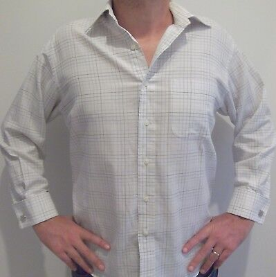 Classic white cotton french-cuff shirt by high-end brand GANTON L as new!