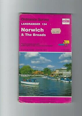 Ordnance Survey Landranger And 1:50 000 Series Map - Norwich  And The Broads