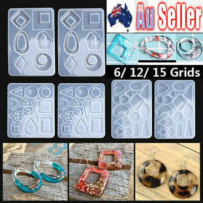 Silicone Earring Pendant Mold Necklace Jewelry Resin Epoxy Mould Casting Craft