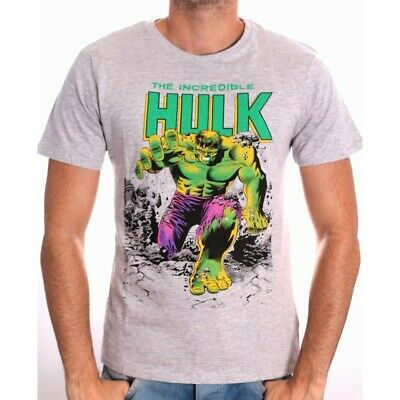 The Incredible Hulk Official Marvel t-shirt Grey large
