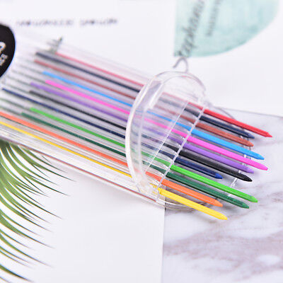 2.0mm 2B Colored Pencil Lead 2mm Mechanical Clutch Refill Holder 12 Colors Set-