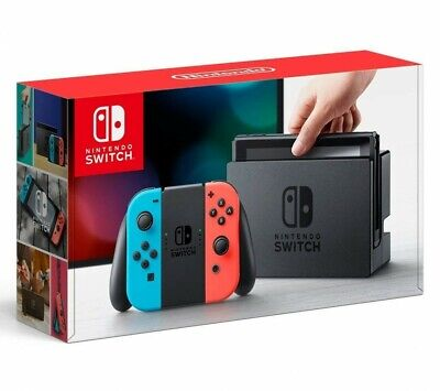 Nintendo Switch Joy-Con(L) Neon Blue /(R) neon Red Game With Tracking Japan NEW