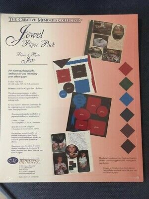 Creative Memories 'Jewel'  paper pack - 12 sheets.