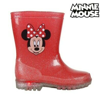 Kinder Gummistiefel mit LEDs Minnie Mouse 73498 Rot