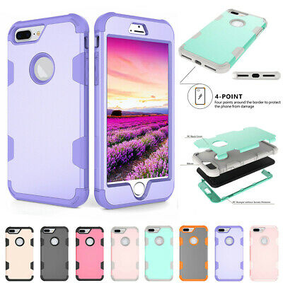 For iPhone XS Max XR X 6 7 8 Plus Shockproof Armor Rubber Protective Hard Case