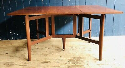 Mid Century Teak Gate Leg Extending Dining Table Possibly Danish DELIVERY*