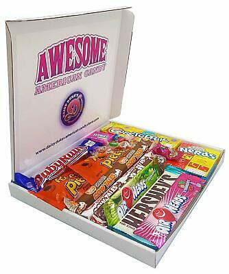 American Chocolate Candy Sweet Selection Gift Box, Nerds, Baby Ruth, Hershey