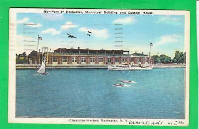 Postcard ~ Port of Rochester Municipal Building and Custom House ~ Vintage 7899