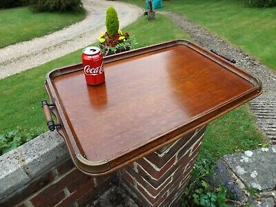 Stunning Very Large Original Antique Wooden Oak Butlers Serving Tray