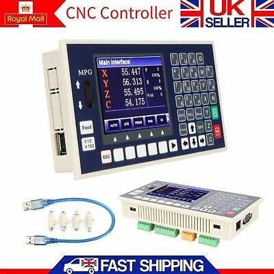 4 Axis Spindle Control CNC Controller LCD TC5540H Support Servo Stepper Motor UK