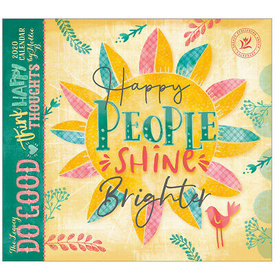 2020 Legacy Calendar DO GOOD THINK HAPPY New Calender Fits Lang Wall Frame