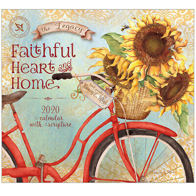 2020 Legacy Calendar FAITHFUL HEART AND HOME New Calender Fits Lang Wall Frame