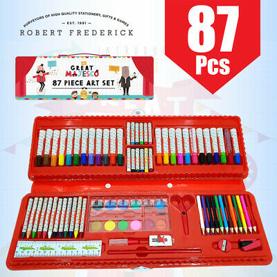 Robert Frederick 87 Piece Kids Great Majesco Colouring/ Drawing Art Craft Set