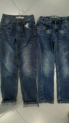 2 Pairs Primark Boys Distressed Blue Slim Fit retro Jeans Size 10-11 Years,146cm