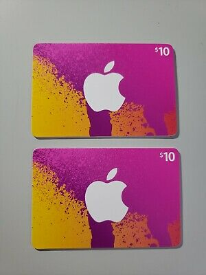 2x 10$ Itunes gift card unused CANADA ONLY!!