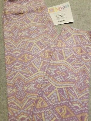 NWT LuLaRoe TWEEN Leggings - Lavender Yellow Orange Aztec, so cute!
