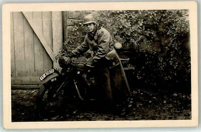 52756316 - German WWII BMW Military Motorcycle RPPC WK I