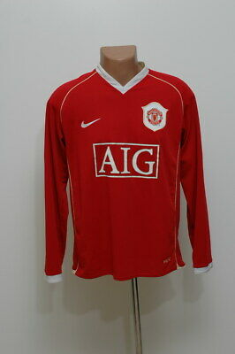 Manchester United 2006/2007 Home Football Shirt Jersey Nike Long Sleeve
