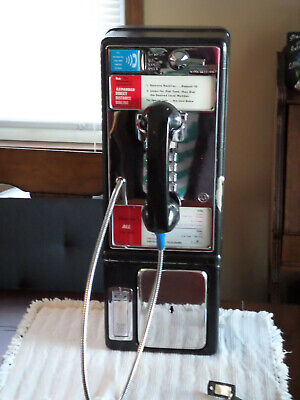 Vintage NJ Bell  Payphone Works  Coins 25  50 Cent Voice Prompt Keys & Mount