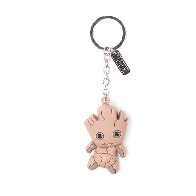 Marvel Guardians of the Galaxy Vol.2 Groot Character 3D Pendant Rubber Keychain,