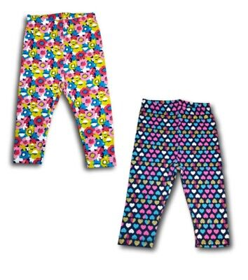 Baby Girls Toddler Kids Children Cotton Blend Patterned Leggings Size 6m-3 Years