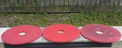 """Floor buffing pads 19"""" 2x red Cleaning Scrubbing & Polishing Janitorial. NOS"""