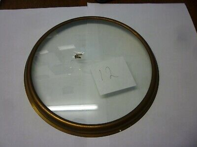 Original Antique Banjo Barometer Slightly Convex Glass And Bezel 8.85ins Diam
