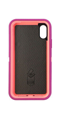 INCOMPLETE OtterBox Defender Series Screenless Case for iPhone X 10 - Coral Dot