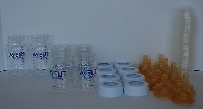 Lot of 8 Philips AVENT Classic Plus BPA Free Polypropylene Bottles, 9 & 4 Ounce
