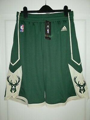 Pantaloncini Shorts adidas Nba, Milwaukee bucks, Taglia M