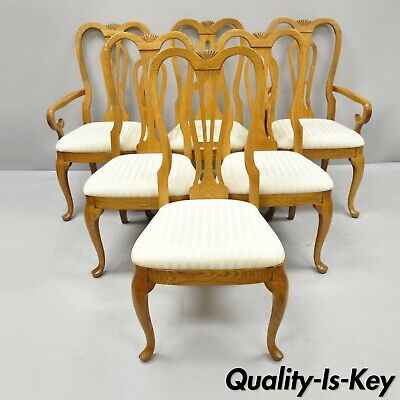 Swell Set Of Six Pennsylvania House Oak Wood Queen Anne Style Dailytribune Chair Design For Home Dailytribuneorg