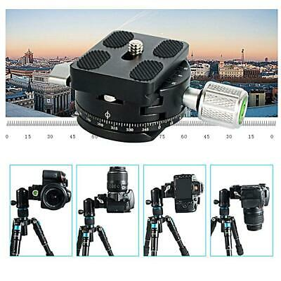 QJ-01/QJ-07 Tripod Ball Head Panoramic Head Black with Scale Level For Camera GD