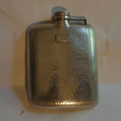 ART DECO Sterling Silver WALLACE 5x4.5 FLASK WALLACE 8 oz. Marked Weighs 202g
