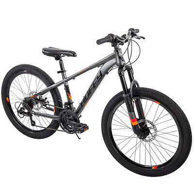 "HUFFY 24"" SCOUT Boys' Hardtail 21-Speed Mountain Bike Disc Brakes ATB  Saddle NEW"
