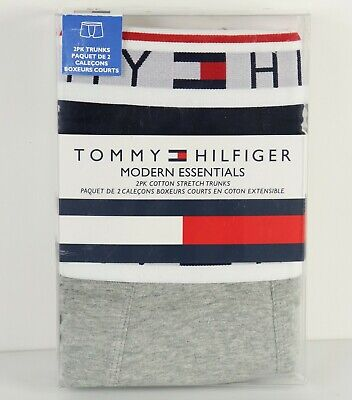 New Tommy Hilfiger Trunks 2 Pack Boxer Briefs S Small