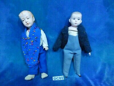 OOAK 2 Art Bisque Dolls Repro Antique German Bisque American Schoolboy DC85
