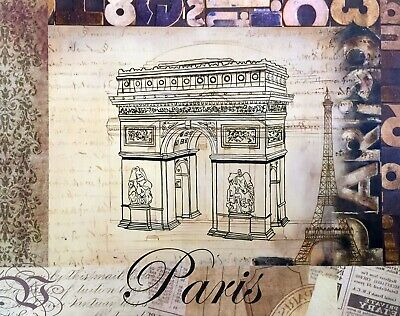 PARIS ARC DE TRIOMPHE France French Louvre Notre Dame Provence Cafe Art Painting
