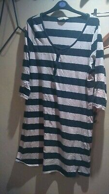 Mothercare Blooming Marvellous Maternity Nightdress XL Pink Stripe