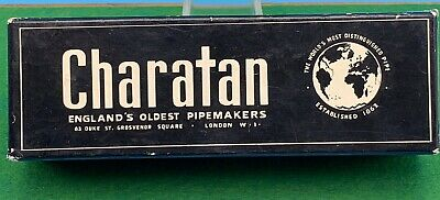 VINTAGE CHARATAN RELIEF GRAIN PIPE BOX ONLY Pfeife 烟斗